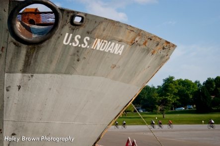 Bicyclists are an icon to IU, much like the USS Indiana.
