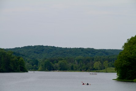 Looking back at Yellowwood Lake.